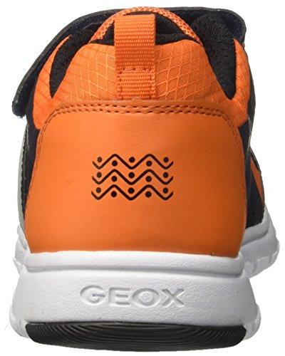 Geox J Xunday B, Zapatillas Para Niños Azul (Navy/orange)