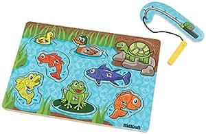 KidKraft Magnetic Magnetic Fish Pond Puzzle, (8 Piece)