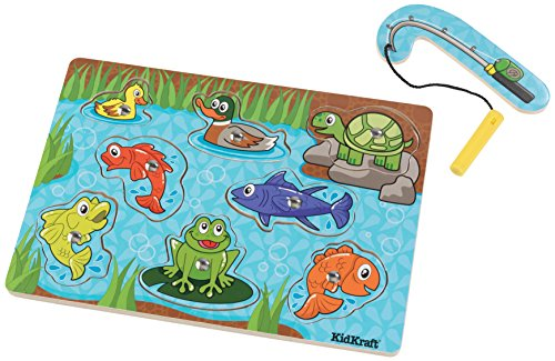 KidKraft Magnetic Magnetic Fish Pond Puzzle, (8 Piece)