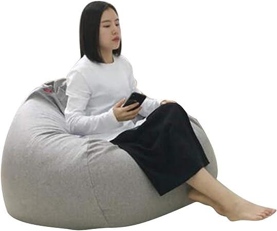 YQQ-Puff Bolsa De Frijoles Sillón Reclinable Bolsa De Frijol Gigante Relleno Asiento Beanbag De Juego Muebles De Jardín Interior/Exterior (Color : Gray 1, Size : 100x115cm): Amazon.es: Hogar