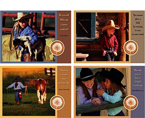 Cowboy/Cowgirl Kids Card Set