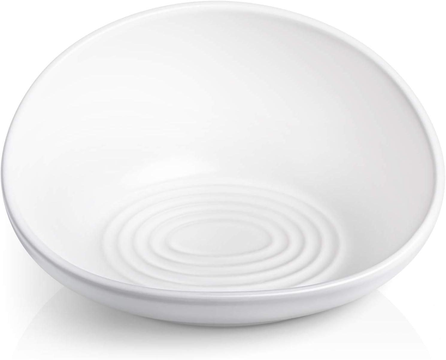 CatGuru Ceramic Cat Food Bowl, Premium Cat Bowls, No Spill Cat Food Bowls, Whisker Stress Free Cat Bowl, Reliefs Whisker Fatigue, Non Skid Pet Bowls for Cats, Includes Silicone Pet Food Mat