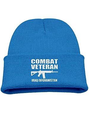 Combat Veteran Iraq Afghanistan Boy Girl Beanie Hat Knitted Beanie Knit Beanie