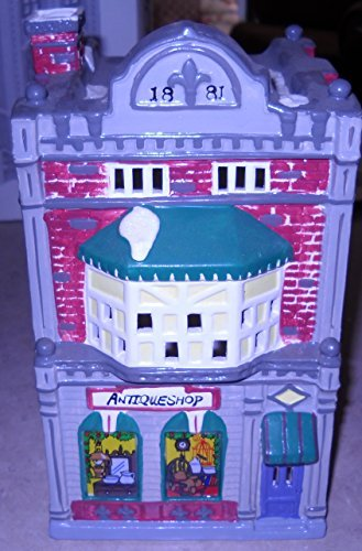 Department 56 Snow Village / Cobblestone Antique Shop / 1988 / The Snowhouse Series / X-Mas Season Collectible Keepsake