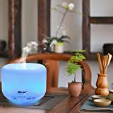 Essential-Oil-Diffuser-MECO-Arotherapy-Diffuser-Aroma-Diffuser-Ultrosonic-Cool-Mist-Diffuser-500ml-Humidifier-with-7-Color-LED-Lights-Waterless-Auto-Shut-off-for-Home-Bedroom-Office