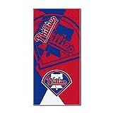 "MLB Philadelphia Phillies ""Puzzle"" Beach Towel, 34""x72"", Red"