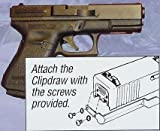 Glock Clipdraw Fits Models 17, 19, 22, 23, 24, 25, 26, 27, 28, 31,32, 33, 34, 35 and 36, Outdoor Stuffs