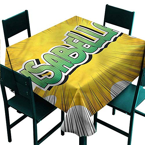 - DONEECKL Restaurant Tablecloth Isabella Retro Style Cartoon and Durable W63 xL63