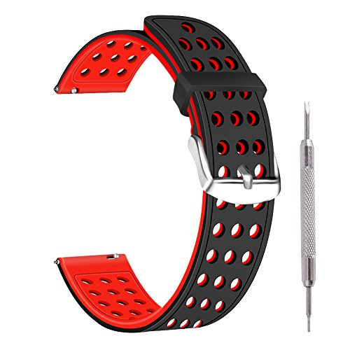 Ritche 18mm Silicone Quick Release Watch Replacement Strap B