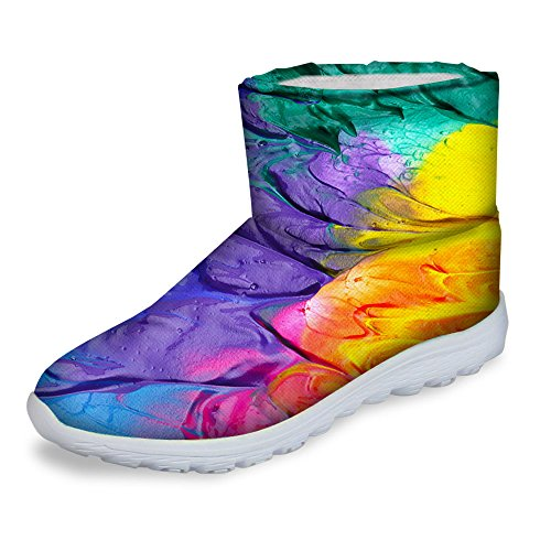 Ankle FOR Snow Boots Footwear DESIGNS U Purple Womens Winter Warm Boots Waterproof Fashion CCvrqwZ