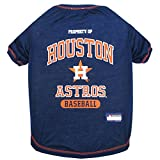 MLB T-SHIRT - DOG TEE SHIRT - Baseball DOGS & CATS SHIRT - Durable SPORTS PET TEE for DOGS & CATS - 5 Sizes available in 29 MLB TEAMS - MLB PET OUTFIT