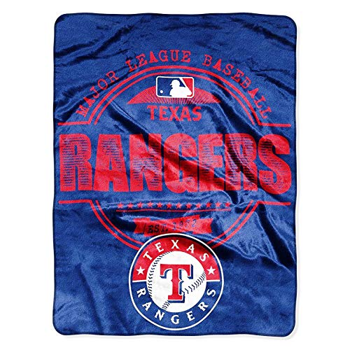Rico Industries, Inc. Texas Rangers Structure Design Circle Established Super Plush Micro Raschel 46x60 Super Soft Throw Blanket Baseball