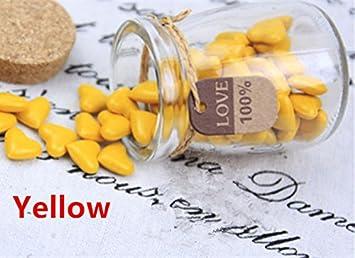 mdlg Vintage 90pcs amarillo forma de corazón cristal embotellada para sellado con cera Sello invitaciones de