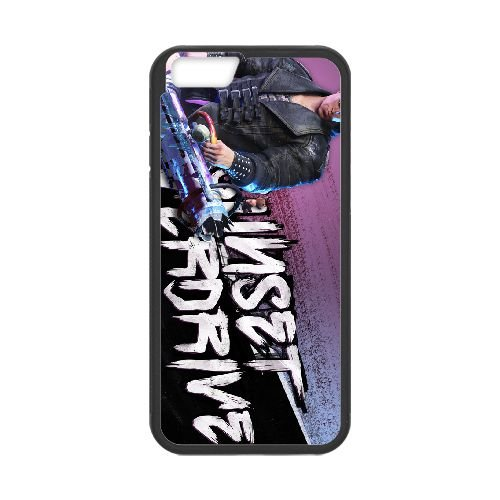 Sunset Overdrive 9 coque iPhone 6 Plus 5.5 Inch cellulaire cas coque de téléphone cas téléphone cellulaire noir couvercle EEECBCAAN06122
