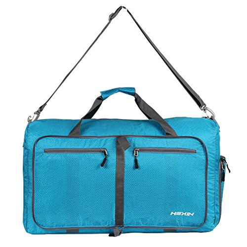 HEXIN Men Women Carry on Duffel Bag Lightweight Luggage Travel Bag Duffle Weekend Gym Bag