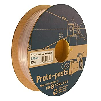 Proto-pasta HTP22805-ICE High Temperature Spool , PLA 2.85 mm, 500 g Iridescent Ice, Clear