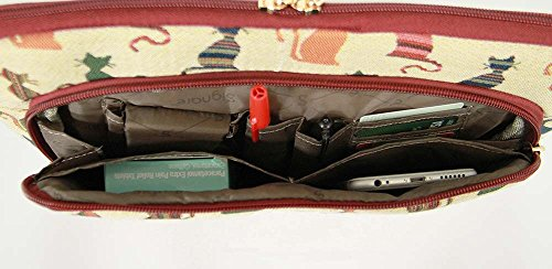 tablette Chat bandoulière Tapisserie sac étuis de accessoires Effronté voyage wvAEq1