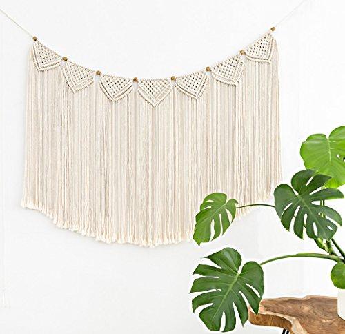 "Mkono Macrame Curtain Wall Hanging Banner, 28 3/4"" W x 46 1/2""L"