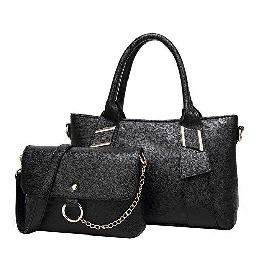 Señora Bolso Hombro Bolso De Mensajero Moda Casual Viaje Portátil Bolso Black