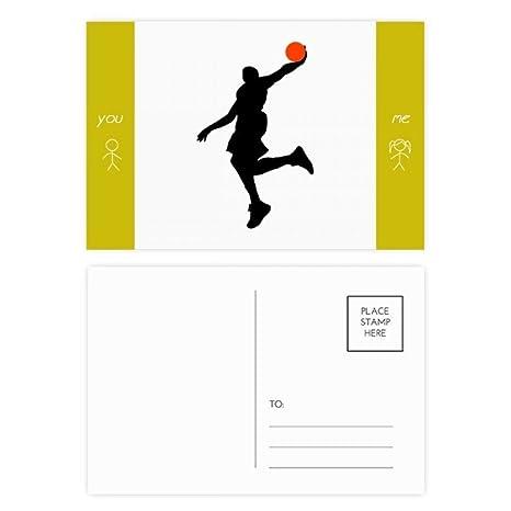 Jumping Sports - Juego de 20 postales para jugador de baloncesto ...