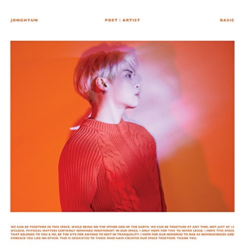 SHINee: Jong Hyun - Poet | Artist [+official unfolded poster in tube][+JONGHYUN autograph polaroid 2pcs][+Teaser photo][+SHINee postcard][+SHINee STICKER]