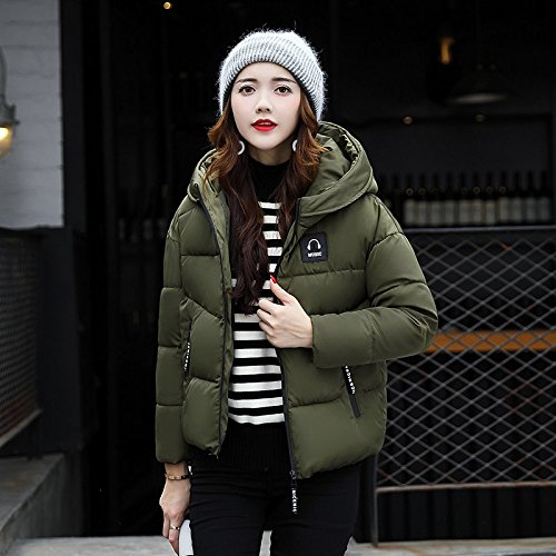 Xuanku Winter Clothing Cotton Coat Female Sau Thick Cotton Clothing Women'S Wild-Cap Short Breads Clothing And Cotton Jacket ArmyGreen