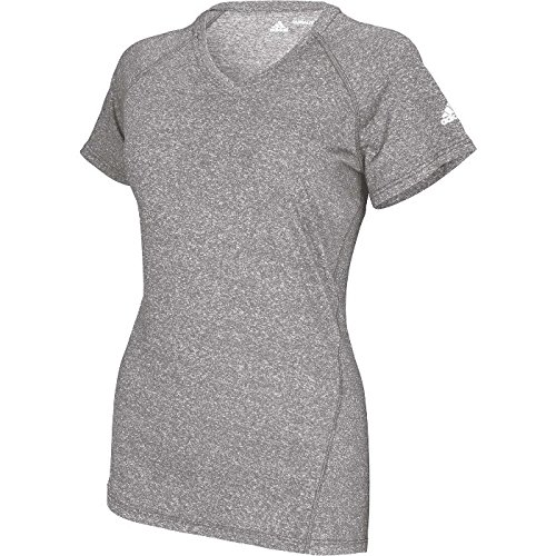 adidas Women's Climalite Short Sleeve Logo Shirt Grey yU4ysZAa9S