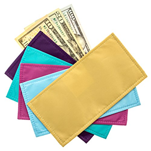 Magnetic Cash Budgeting Envelopes, Set of 5, Divide. Spend Save. Budget Your Way to Savings (Bright Budgeting)