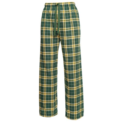 Boxercraft Plaid 100% Cotton Flannel Pant F20, Green/Gold-Youth Medium...