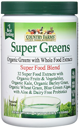 Country Farms Super Green Drink Mix, Natural, 9.88 Ounce