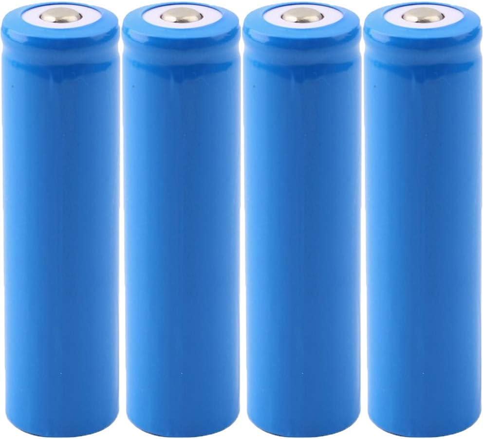 Bleu FYstar 18650 Batteries Rechargeable au Lithium Batterie 5000mah 3.7V Grande capacit/é Li-ION ICR Batterie pour Lampe de Poche LED Torche Lot de 4