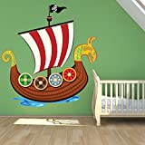 azutura Viking Sail Ship Wall Sticker Viking Wall Decal Art Boys Bedroom Home Decor available in 8 Sizes Large Digital