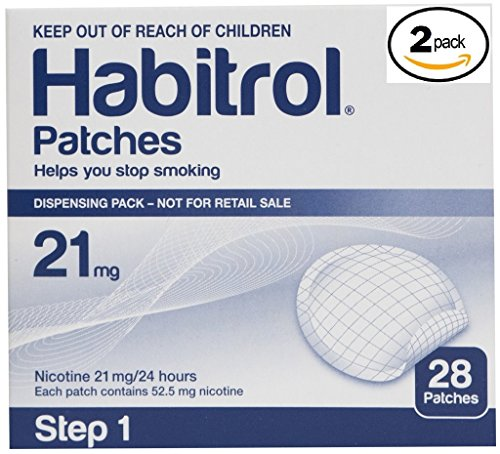 (Novartis Habitrol 21mg Nicotine Patches, Step 1. Stop Smoking. 2 boxes of 28 each (56 patches))