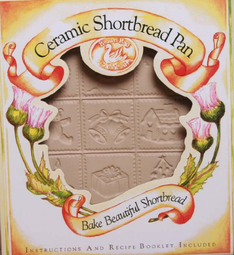 Brown Bag Design Christmas Shortbread Cookie Pan, 8-1/2-Inch by 10-3/4-Inch