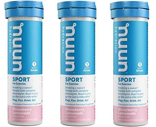Nuun Active: Strawberry Lemonade Electrolyte Drink Tablets (3 Tubes of 10 Tabs)