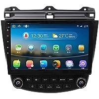 Android 5.1.1 7th 2003-2007 Honda Accord Single Zone 10.1 Inch Indash Car Stereo Radio Head Unit GPS Navigation DVD Player with Bluetooth/SD/USB/FM/AM Radio/Steering Wheel Control/AV-IN/Free Map