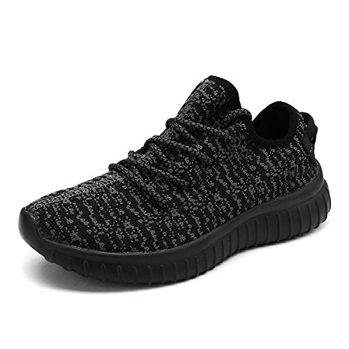 DREAM PAIRS PILOT-W New Women's Lace Up Sport Light Weight Casual Fashion Sneaker Lovers Running Shoes BLACK DK.GREY SIZE (Black Light Cheap)