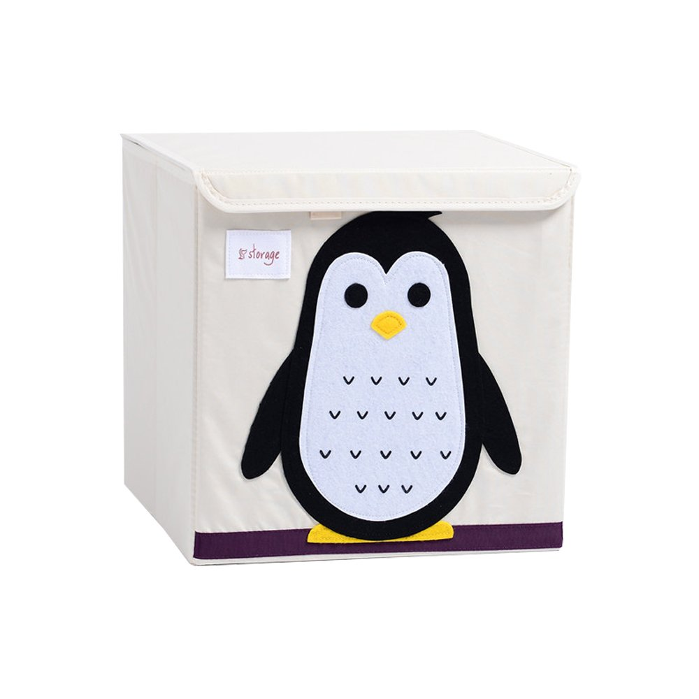Harson/&Jane Childrens Large Capacity Fabric Storage Cube Cartoon Toy Clothes Organizer with Lid Panda