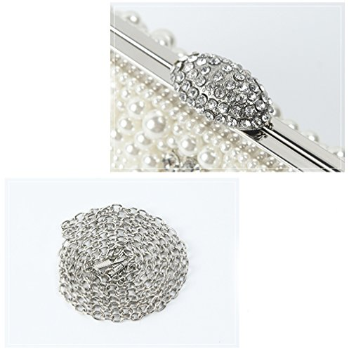 Bag Diagonal Explosion Luxury Shoulder Dinner XIAOLONGY White Hot Bag Bag Bridal Fashion Pearl Hand Bag Cheongsam Dress x1wxqz0Bd