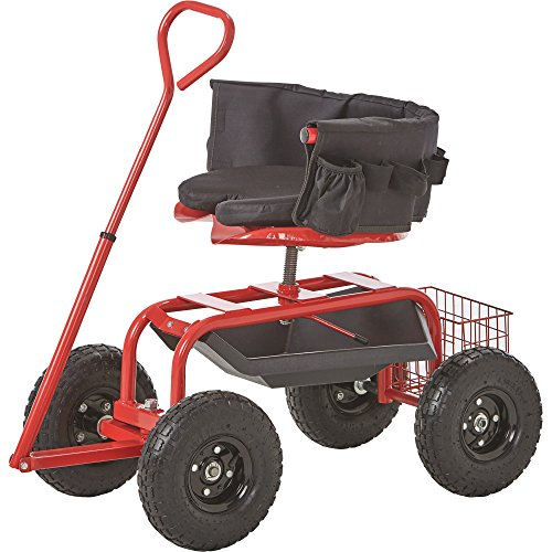 - Kotulas Deluxe Rolling Garden Seat with Easy Change Turnbars - Red