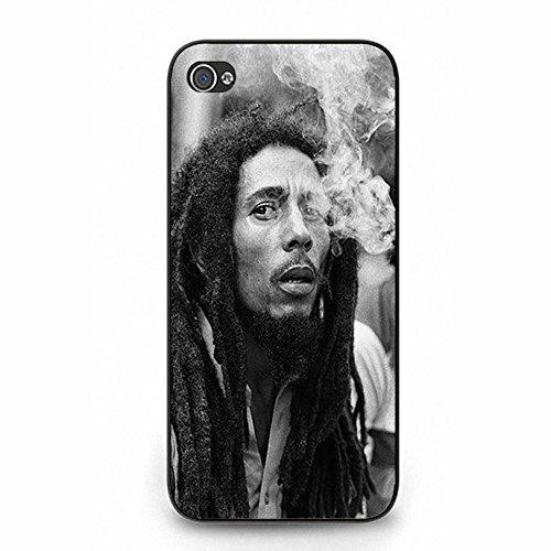 Iphone 5 5s Cover Shell Stylish Smoking Style Reggae Music Bob Marley Wailing Wailers Phone Case Cover Originator Singer Personalized