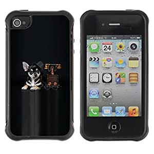 """Hypernova Defender Series TPU protection Cas Case Coque pour Apple iPhone 4 / iPhone 4S [drogas Vzglyad sobaka""""]"""
