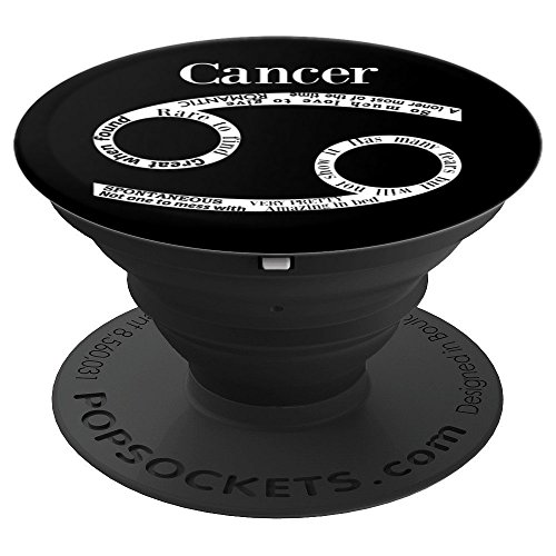 Cancer Zodiac Sign Horoscope (Cancer Words Traits Astrology Zodiac Sign Horoscope - PopSockets Grip and Stand for Phones and Tablets)