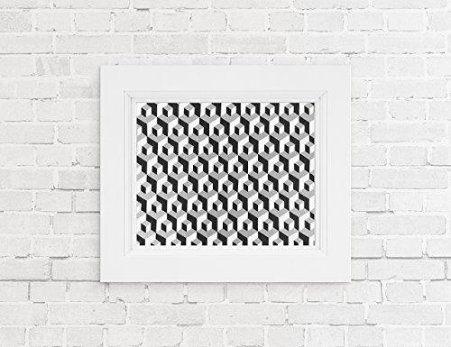 MC Escher Inspired Geometrical Art Print Optical Illusion Giclee Art Print On Archival Paper by Artist Amber McDowell