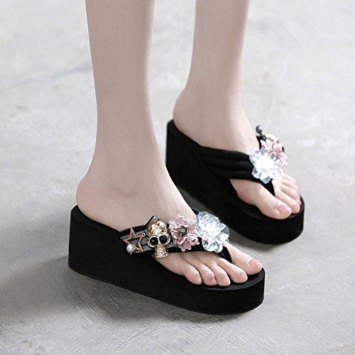 Black De Y Zapatillas Zapatillas Zapatillas Chanclas Mujer Playa Verano Moda STHY De Sandalias 1AFwT7Oq