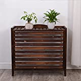 wood air conditioner cover - WSSF- Anti-Corrosion Carbonized Wooden Flower Rack Gardening Workstation Storage Flower Pot Shelf Plant Radiator Cover Display Stand Solid Wood Outside Air Conditioner Cover (Size : 863580cm)