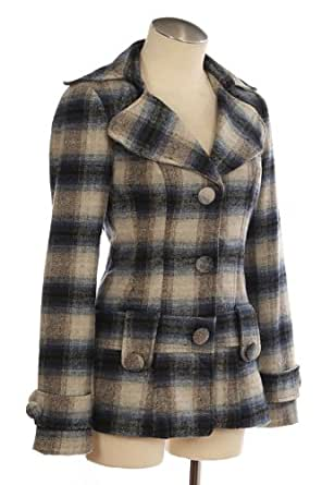 G2 Chic Women's Plaid Jacket(CLT-JKT,BLU-S)