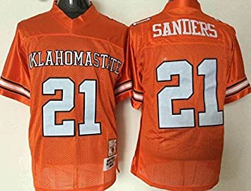 ... mc jersey mens oklahoma state cowboys barry sanders 21 college football  jersey orange ... bec0cf11e