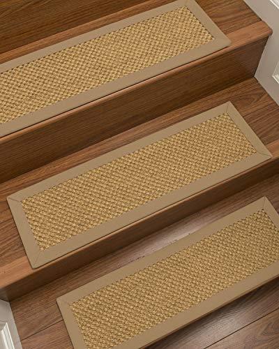 - NaturalAreaRugs 100% Natural Fiber Rustic, Sisal Gold, Handmade Custom Stair Treads Carpet Set of 13 (9