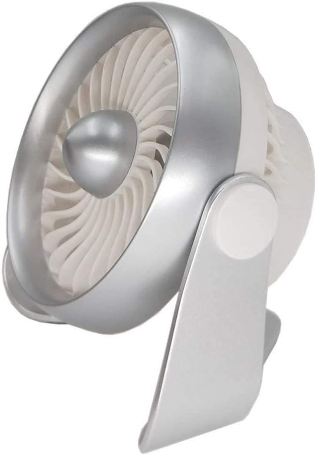 Color : Silver Quiete Desktop Fan with Aromatherapy,Portable Mini Personal Fan with 4 Speeds Cooling Fan for Office Table Travel